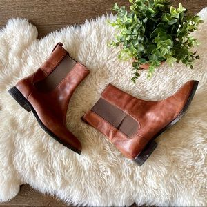 Cole Haan Nike Air brown leather Chelsea boots
